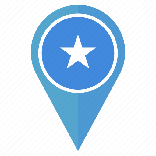 country, flag, location, nation, navigation, pin, somalia icon