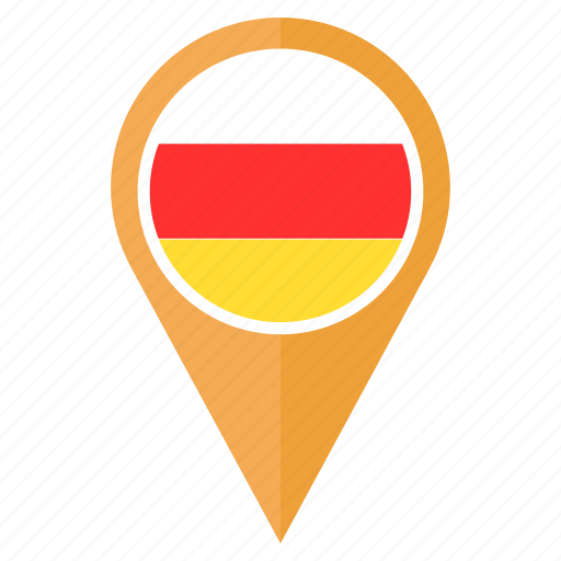 flag, location, map, nation, navigation, pin, south ossetia icon
