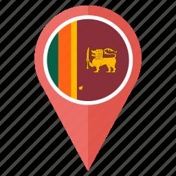 country, flag, lanka, nation, national, navigation, sri icon