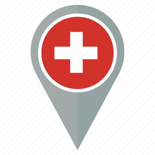 country, flag, map, navigation, pantone, pin, switzerland icon