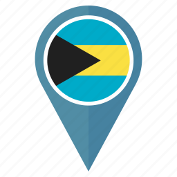 country, flag, location, navigation, pin, the bahamas icon