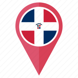 location, marker, national, navigation, pin, the dominican republic flag icon