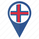 country, flag, nation, navigation, pin, the faroe islands icon