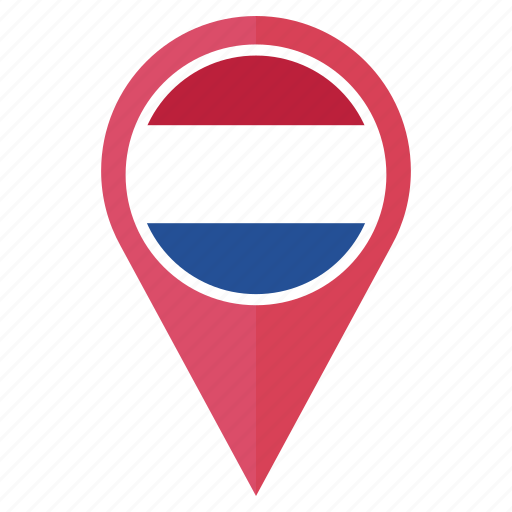 country, flag, location, navigation, netherlands, pin, the icon
