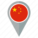 country, flag, location, nation, navigation, the people's republic of china icon