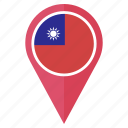china, flag, location, navigation, of, republic, the icon