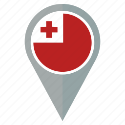 country, flag, location, map, navigation, pin, tonga icon