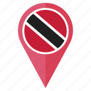 flag, pin, country, location, nation, navigation, trinidad and tobago