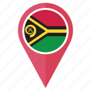 country, flag, location, nation, navigation, pin, vanuatu icon