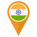 india, pin, direction, navigation, location, map, arrow icon