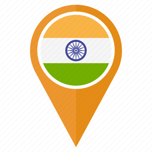 arrow, direction, india, location, map, navigation, pin icon