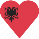 albania, country, flag, location, nation, navigation, pin
