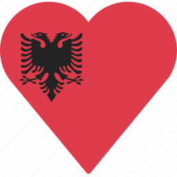 albania, country, flag, location, nation, navigation, pin icon