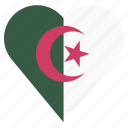 algeria, country, flag, location, nation, navigation, pin