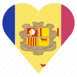 andorra, country, flag, location, nation, navigation, pin icon
