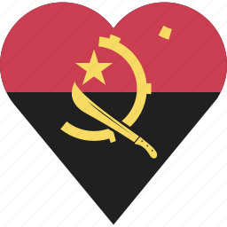 angola, country, flag, location, nation, navigation, pin icon