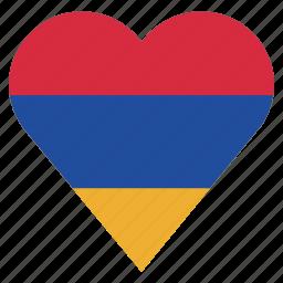 armenia, country, flag, location, nation, navigation, pin icon