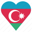 azerbaijan, country, flag, location, nation, navigation, pin icon