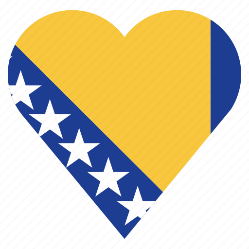 bosnia herzegovina, country, flag, location, nation, navigation, pin icon
