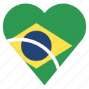 brazil, country, flag, location, nation, navigation, pin icon