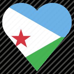 country, djibouti, flag, location, nation, navigation, pin icon