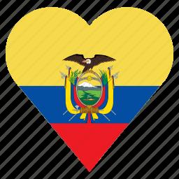 country, ecuador, flag, location, nation, navigation, pin icon