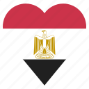 pin, egypt, country, nation, flag, location, navigation