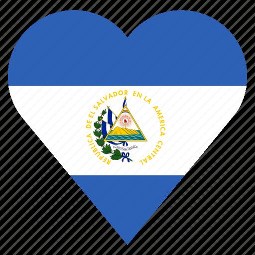 country, el salvador, flag, location, nation, navigation, pin icon