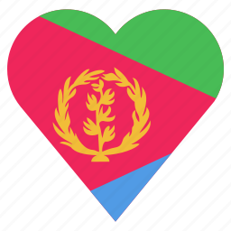 country, eritrea, flag, location, nation, navigation, pin icon