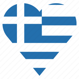 country, flag, greece, location, nation, navigation, pin icon