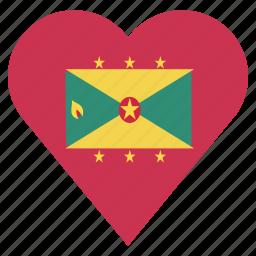 country, flag, grenada, location, nation, navigation, pin icon