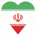 country, flag, iran, location, nation, navigation, pin icon
