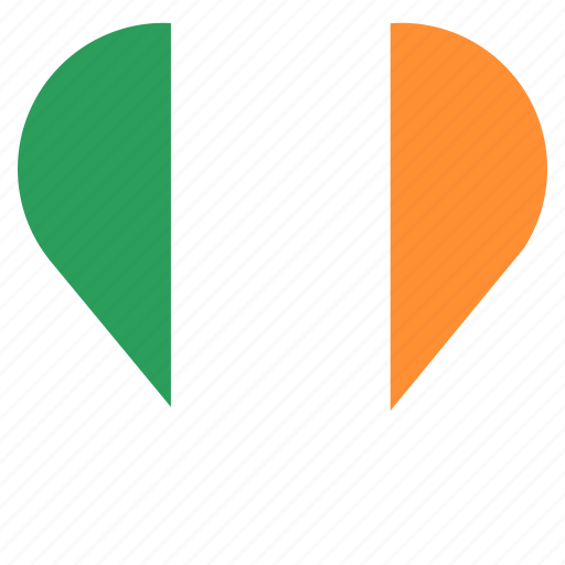 country, flag, ireland, location, nation, navigation, pin icon
