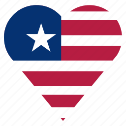 country, flag, liberia, location, nation, navigation, pin icon