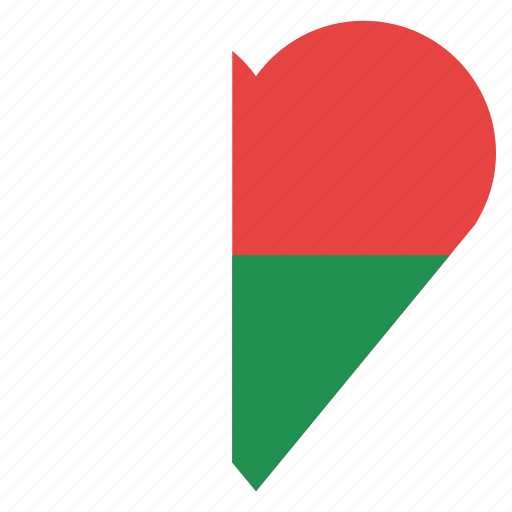 country, flag, location, madagascar, nation, navigation, pin icon