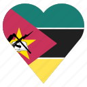 pin, country, nation, flag, mozambique, location, navigation