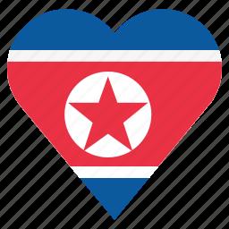 country, flag, location, nation, navigation, north korea, pin icon