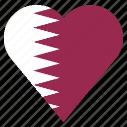 country, flag, location, nation, navigation, pin, qatar icon