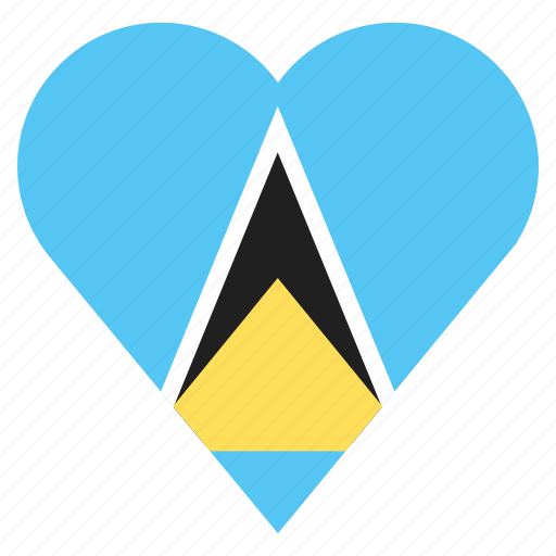country, flag, location, navigation, pin, saint lucia icon