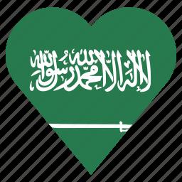 country, flag, location, nation, navigation, pin, saudi arabia icon