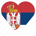 country, flag, location, nation, navigation, pin, serbia icon