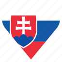 country, flag, location, nation, navigation, pin, slovakia icon