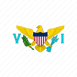 country, flag, location, nation, navigation, pin, the united states virgin islands icon