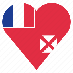 country, flag, location, nation, navigation, pin, wallis and futuna icon