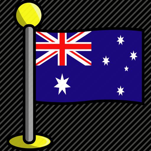 australia, country, flag, flags icon