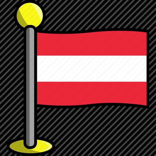 austria, country, flag, flags icon