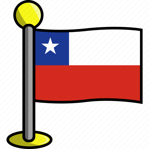 chile, country, flag, flags icon
