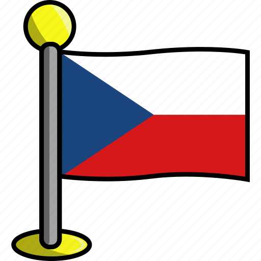 country, czech, flag, flags, republic icon