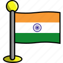 country, flag, flags, india