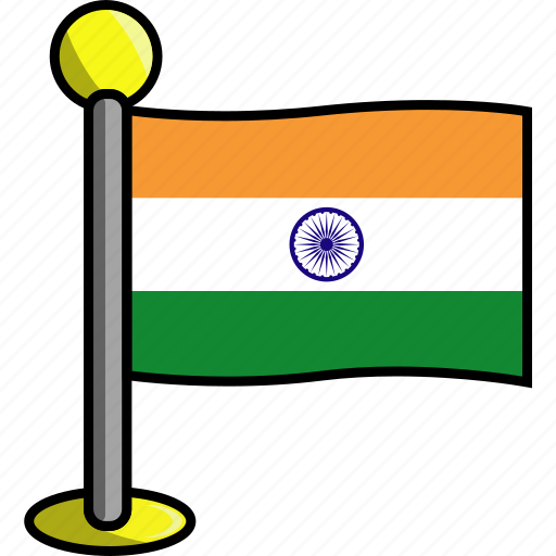 country, flag, flags, india icon